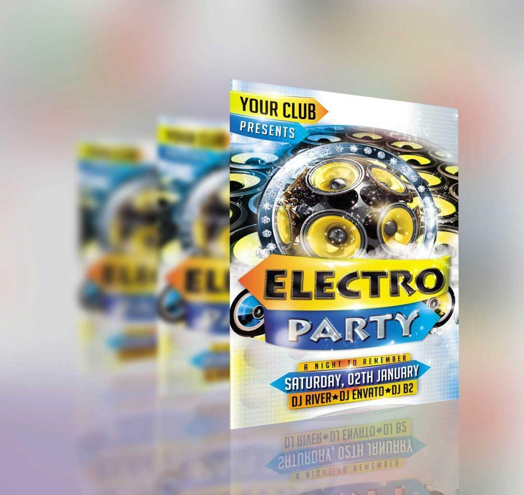 Pliante anunt pentru evenimente flyere calitative cu text culori potrivite