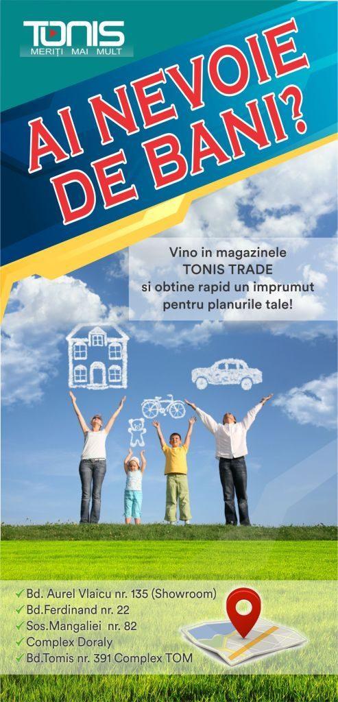 flyer pentru reclame cu grafica imagine pozitiva de transmis clientilor